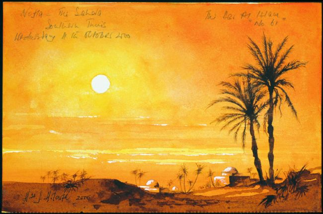 Nefta Tunisia  city pictures gallery : Harry Holcroft Sunset at Nefta, Sahara Southern Tunisia